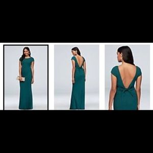 Long low back dress from David's Bridal